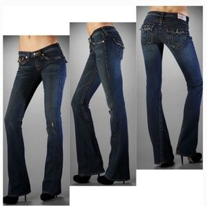 True Religion Joey Jeans Twisted Seam Flare Leg 25
